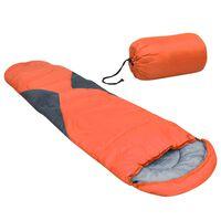vidaXL Spalna vreča oranžna 5 ℃ 1400 g