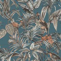 DUTCH WALLCOVERINGS Tapeta Bird-of-Paradise modra