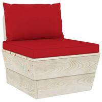 vidaXL Vrtni kavč iz palet srednji z blazinami impregnirana smrekovina