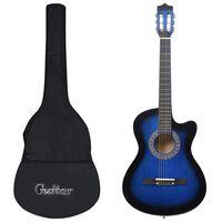 """vidaXL Akustična kitara 12-delni komplet s 6 strunami modra 38"""""""