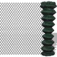 vidaXL Mrežna ograja pocinkano jeklo 1,5x25 m zelena