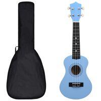 """vidaXL Otroški ukulele soprano s torbo baby moder 21"""""""