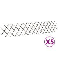 vidaXL Mrežaste ograje iz vrbe 5 kosov 180x30 cm