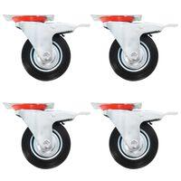 vidaXL Gibljiva kolesa 12 kosov 100 mm