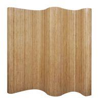 vidaXL Paravan iz bambusa naravne barve 250x165 cm