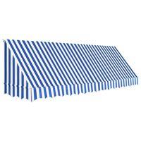 vidaXL Bistro tenda 400x120 cm modra in bela