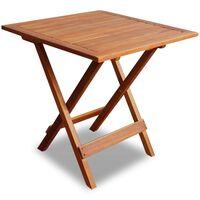 vidaXL Bistro miza 46x46x47 cm trden akacijev les