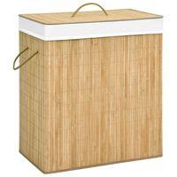 vidaXL Košara za perilo iz bambusa 100 L