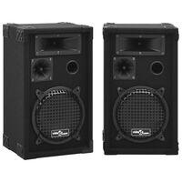 vidaXL Profesionalni pasivni odrski zvočniki 2 kosa 800 W črne barve