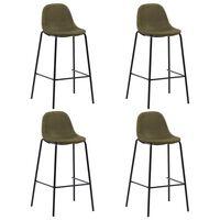 vidaXL Barski stoli 4 kosi rjavo blago