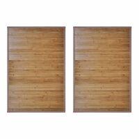 vidaXL Kopalniške preproge iz bambusa 2 kosa 60x90 cm rjave