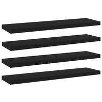 vidaXL Dodatne police za omaro 4 kosi črne 40x10x1,5 cm iverna plošča