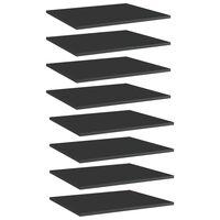 vidaXL Dodatne police za omaro 8 kosov visok sijaj črne 60x50x1,5 cm
