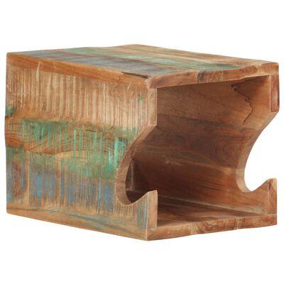 vidaXL Stensko stojalo za kolo 35x25x25 cm trden predelan les