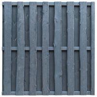 vidaXL Ograjni panel borovina 180x180 cm sive barve