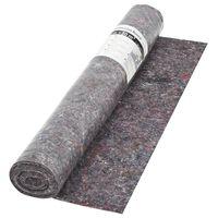 vidaXL Nedrseča zaščitna podloga 50 m 180 g/m² siva