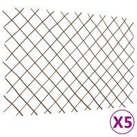 vidaXL Mrežaste ograje iz vrbe 5 kosov 180x120 cm