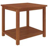 vidaXL Stranska mizica trden akacijev les 45x45x45 cm