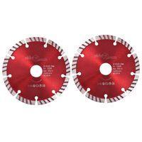 vidaXL Diamantni rezalni diski 2 kosa s turbo jeklom 125 mm