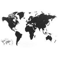MiMi Innovations Zemljevid sveta Luxury sestavljanka črn 150x90 cm