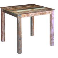vidaXL Jedilna miza iz trdnega predelanega lesa 80x82x76 cm