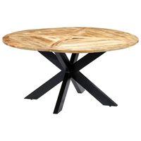 vidaXL Jedilna miza okrogla 150x76 cm trden mangov les