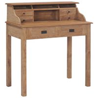 vidaXL Pisalna miza iz trdne tikovine 90x50x100 cm