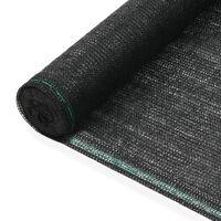 vidaXL Teniška zaščitna mreža HDPE 1,6x50 m črna