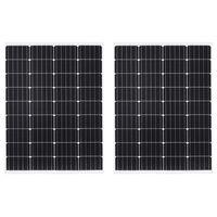 vidaXL Solarni plošči 100 W monokristalni aluminij in varnostno steklo