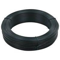 vidaXL Vezna žica za ograjo 250 m 0,9/1,4 mm jeklo črno zelena