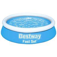 Bestway Fast Set napihljiv bazen okrogel 183x51 cm moder