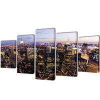 Set platen s printom New York iz zraka 200 x 100 cm