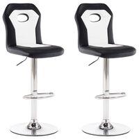 vidaXL Barski stolčki 2 kosa belo umetno usnje