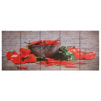 vidaXL Slika na platnu paprika večbarvna 200x80 cm