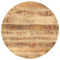 vidaXL Mizna plošča iz trdnega mangovega lesa okrogla 15-16 mm 60 cm