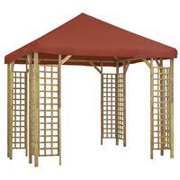 vidaXL Paviljon 3x3 m terakota