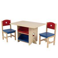 KidKraft Komplet mizice in 2 stolov z zvezdicami