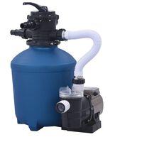 vidaXL Črpalka s peščenim filtrom in časovnikom 530 W 10980 L/h