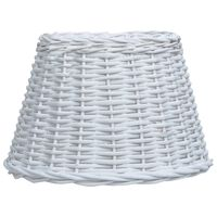 vidaXL Senčilo za svetilko pleteno 30x20 cm bele barve