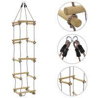 vidaXL Otroška lestev iz vrvi 200 cm les