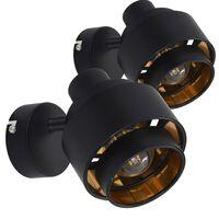 vidaXL Reflektor 2 kosa črne barve E14