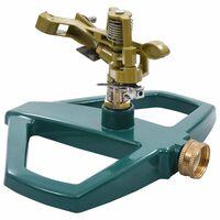 vidaXL Vrtljiv razpršilnik zelen 21x22x13 cm kovinski
