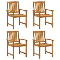 vidaXL Režiserski stoli 4 kosi trden akacijev les