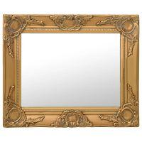 vidaXL Stensko ogledalo v baročnem stilu 50x40 cm zlato