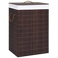 vidaXL Košara za perilo iz bambusa rjava 72 L