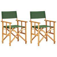 vidaXL Režiserski stoli 2 kosa trden akacijev les zeleni