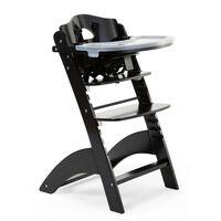 CHILDHOME 2 v 1 visok otroški stol Lambda 3 črn