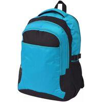 vidaXL Šolski nahrbtnik 40 L črne in modre barve
