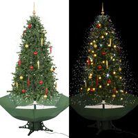 vidaXL Novoletna jelka s sneženjem in podstavkom zelena 190 cm