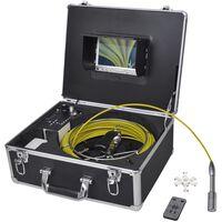 vidaXL Kamera za pregledovanje cevi 30 m z DVR nadzorno omarico